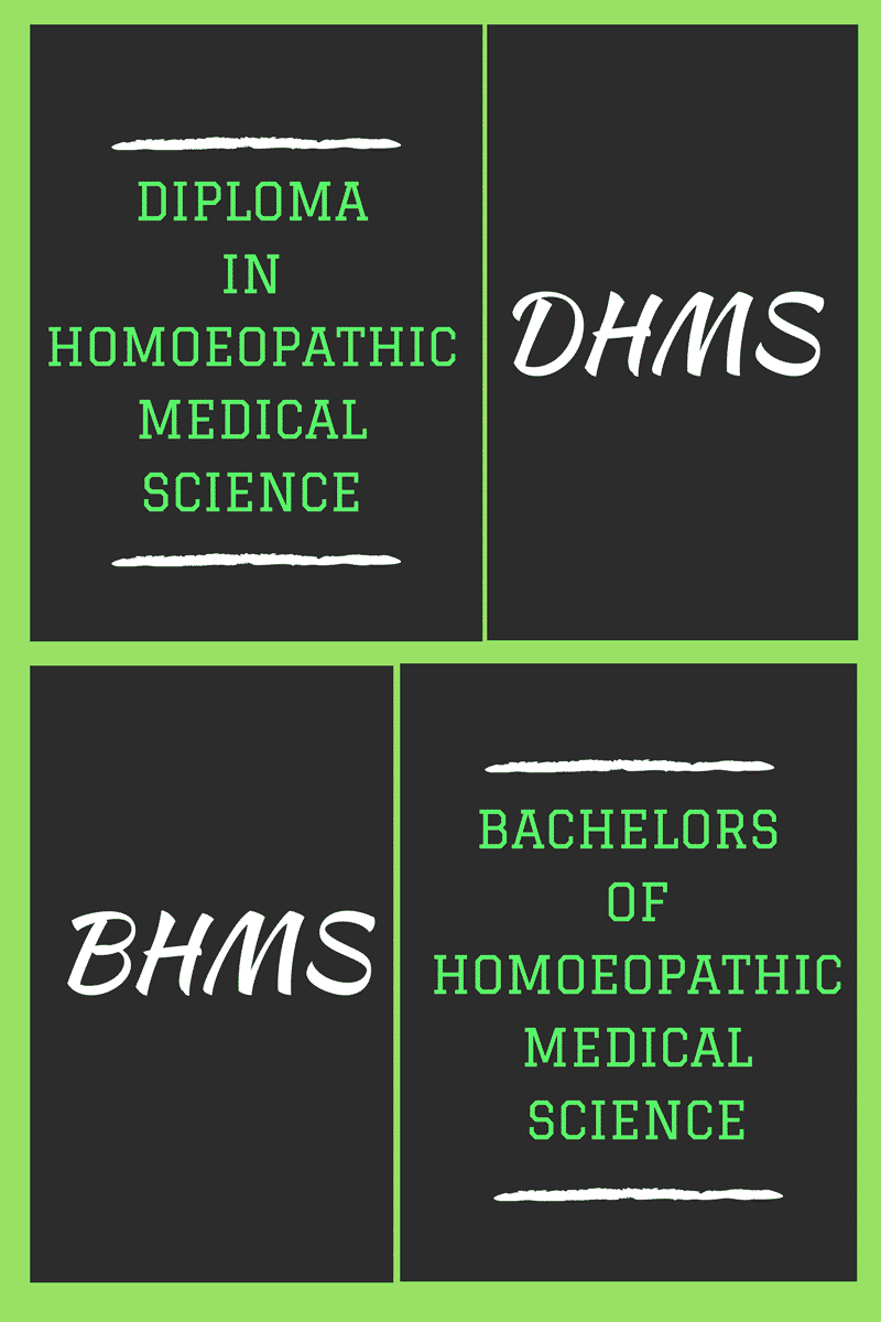 Bachelors Or Diploma In Homeopathic Medical Science Bhms Dhms