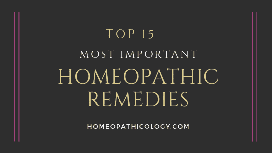 Top 15 Most Important Homeopathic Remedies List 1