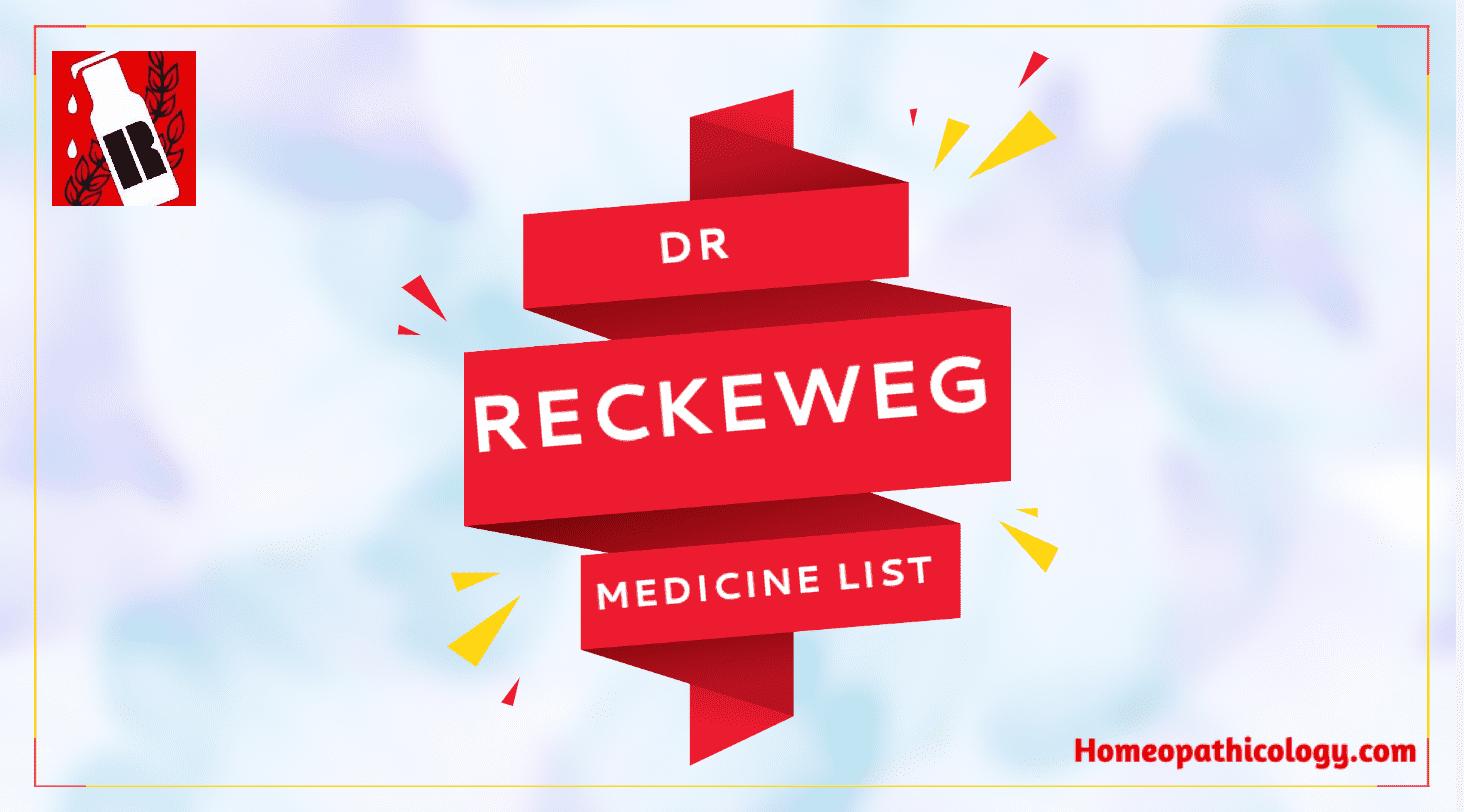 Dr Reckeweg Medicine List